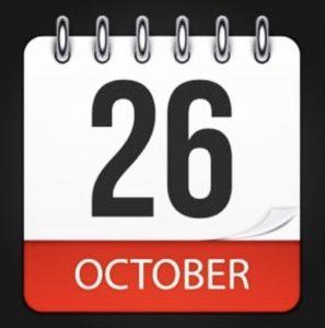October 26 2020